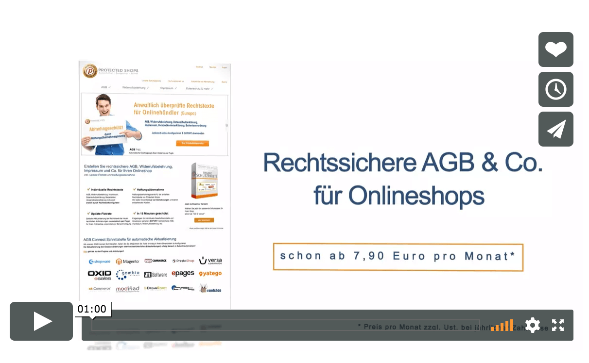 Protected Shops Rechtstexte Video Banner