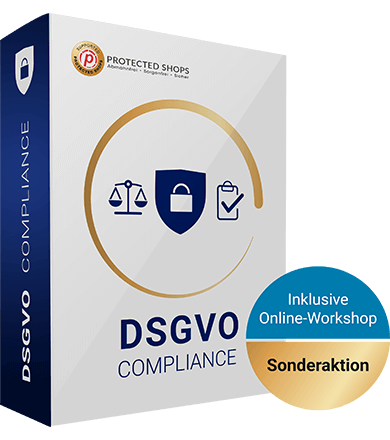 DSGVO compliance Schutzpaket inklusive Online-Workshop